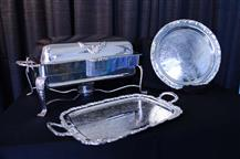 Silver Chafing Dish & Silver Trays